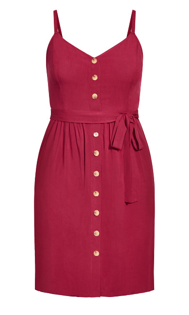Date Day Dress - rhubarb