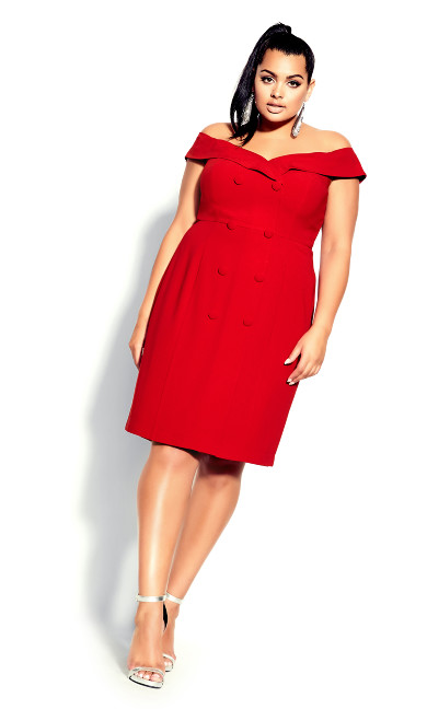 Plus Size Bitter Sweet Dress - crimson