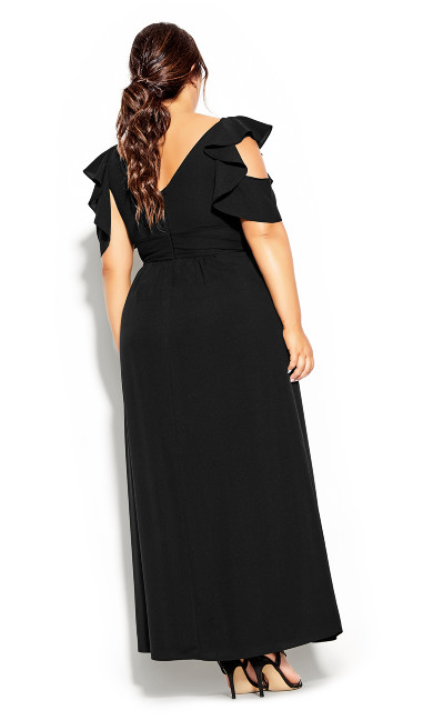 Frill Treasure Maxi Dress - black