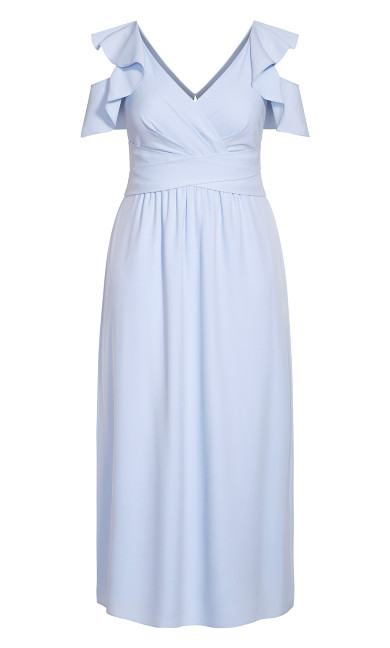 Frill Treasure Maxi Dress - powder
