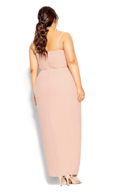 Sweet Drape Maxi Dress - pink