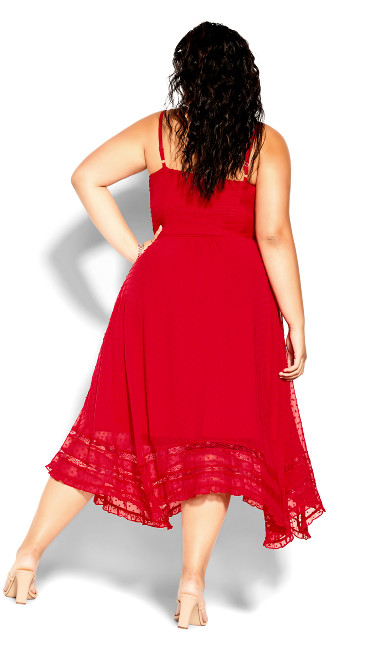 Flirty Nature Dress - red