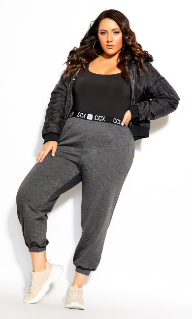 Plus Size Street Cred Pant - charcoal