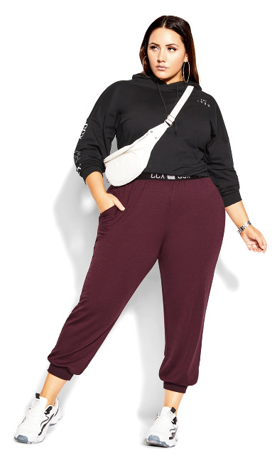 Street Cred Pant - maroon