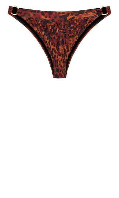 Vibeka Print Bikini Pant - leopard