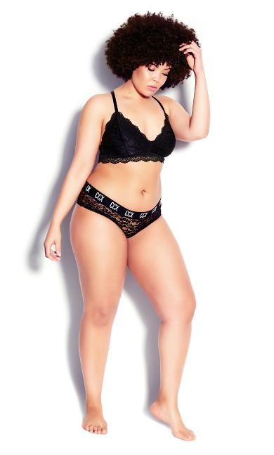 CCX Lace Hipster - black