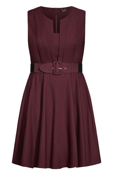Vintage Veronica Dress - bordeaux