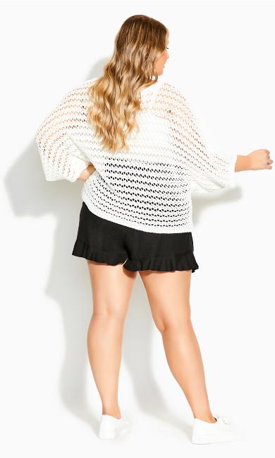 Cool Crochet Top - ivory