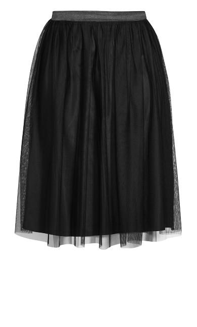 Tulle Star Skirt - black
