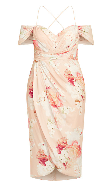 Powder Floral Maxi Dress - powder