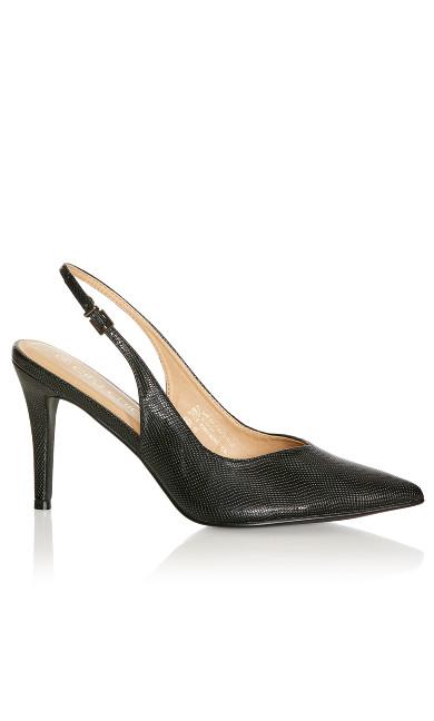 Plus Size Jemma Sling Back Heel - black