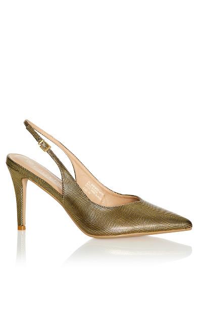 Jemma Sling Back Heel - gold