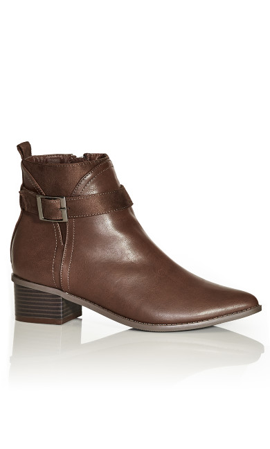 Micah Ankle Boot - chocolate