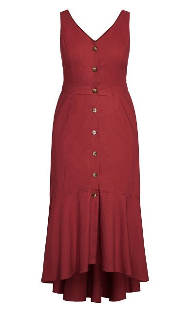 Sweetie Button Maxi Dress - port