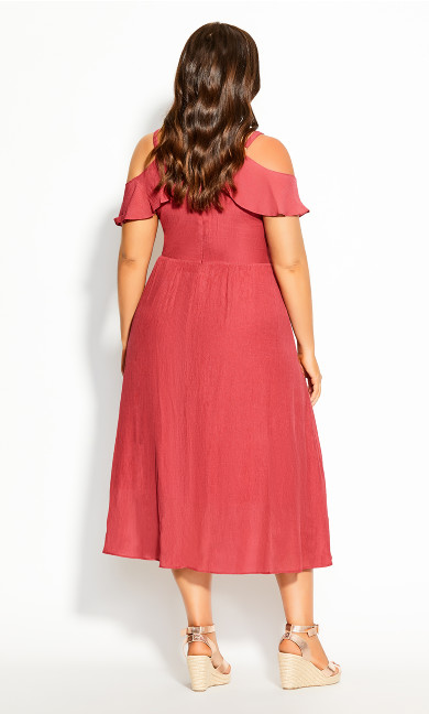Romantic Tie Dress - raspberry