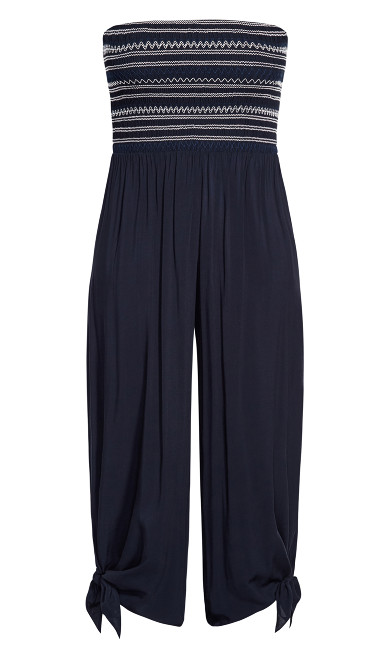 Stitched Jumpsuit - navy
