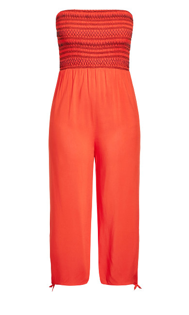 Stitched Jumpsuit - papaya