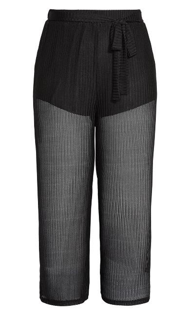 Textured Mesh Pant - black