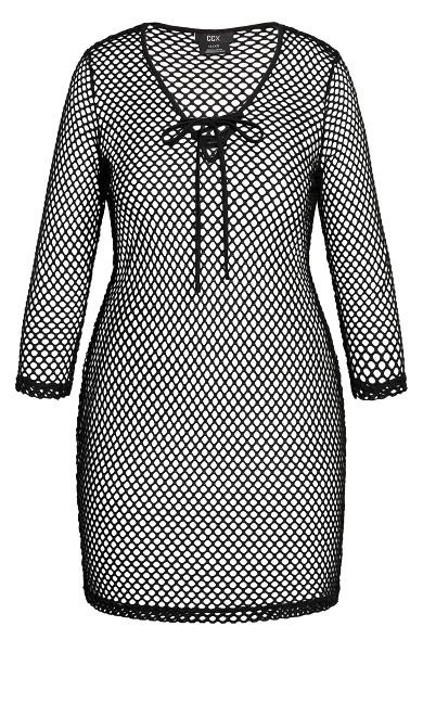 Mesh Mini Dress - black
