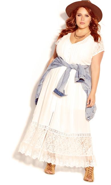 Plus Size City of Angels Maxi Dress - ivory