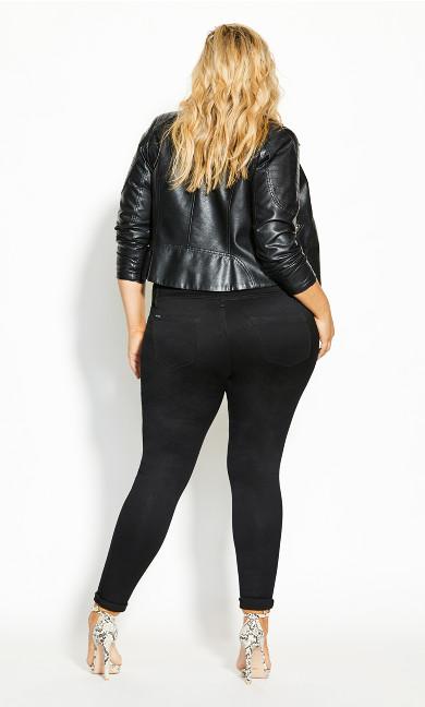 Asha Rip Corset Jean - black
