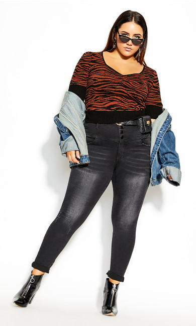 Plus Size Wild At Heart Jumper - orche