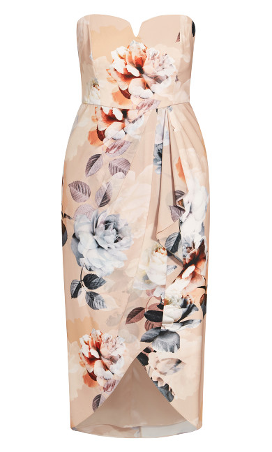 Delicate Rose Dress - beige