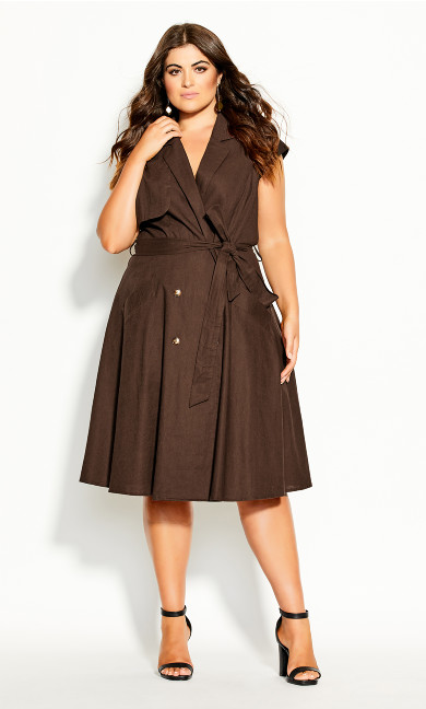Plus Size Essential Dress - mink