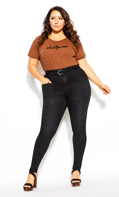 Plus Size Whatever Top - toffee
