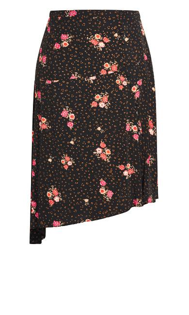 Ditsy Vibes Skirt - black