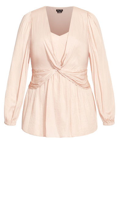 Twisted Love Top - rose