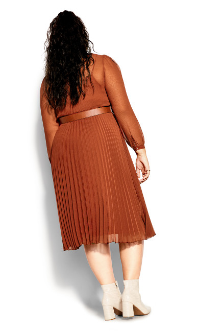 Love Pleat Dress - ginger
