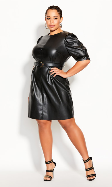Plus Size Royale Luxe Dress - black