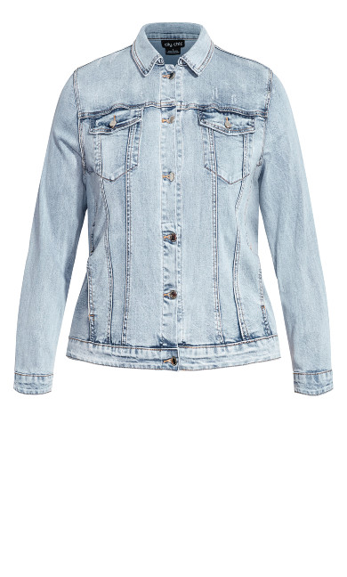 Denim Longline Jacket - denim