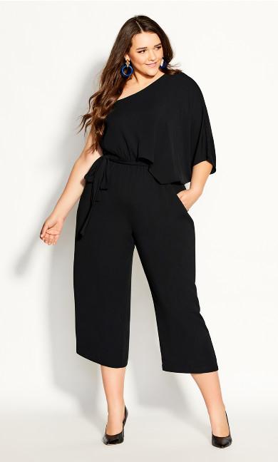 Plus Size Valencia Jumpsuit - black