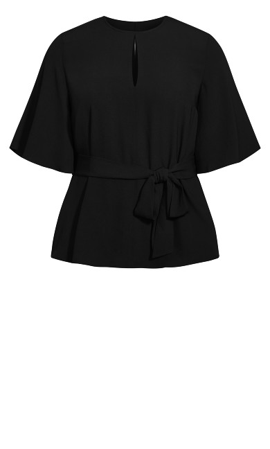Knot Me Up Top - black