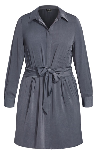 Tie Detail Dress - smoke