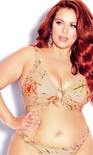 Plus Size Amara  Bikini Top - coral
