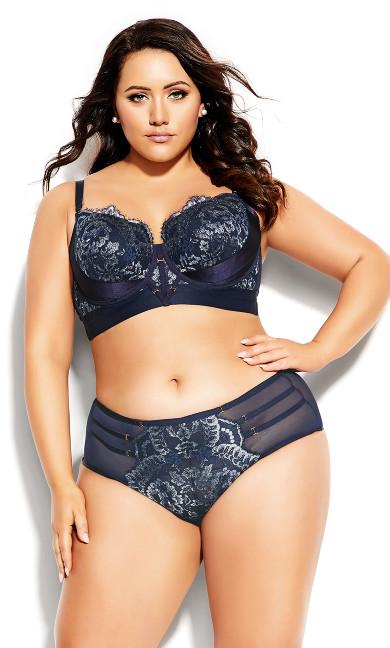 Plus Size Alexis Longline Contour Bra - midnight