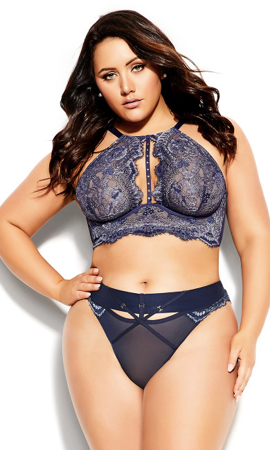 Plus Size Alexis Thong - midnight