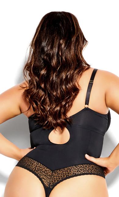Caddie Underwire Bodysuit - black