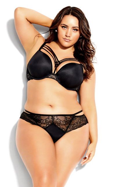 Dita Strappy Push Up Bra - black