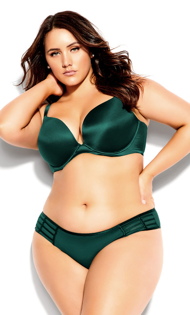 Adore Back Smother Push Up Bra - teal