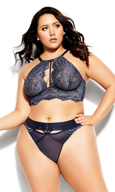Plus Size Alexis Underwire Bralette - midnight