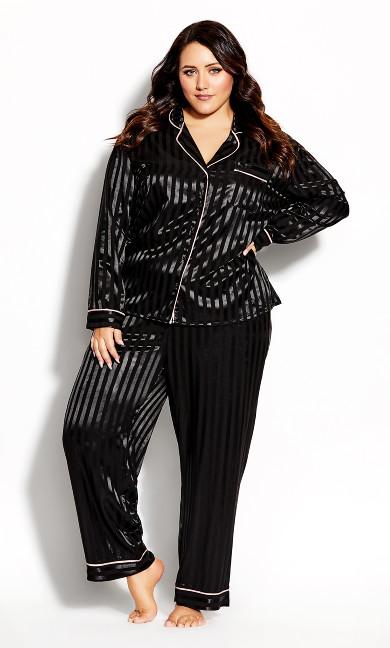 Plus Size Sophia Sleep Shirt - black