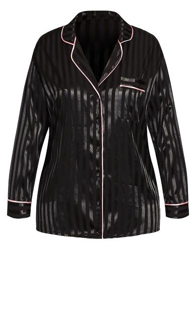 Sophia Sleep Shirt - black