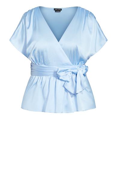 Tangled Top - powder blue