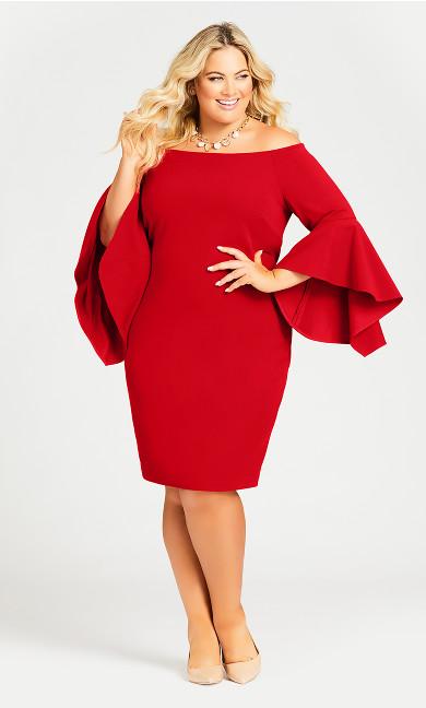Plus Size Fiona Dress - scarlet
