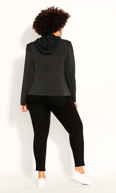 Versatile Hoodie Jacket - black