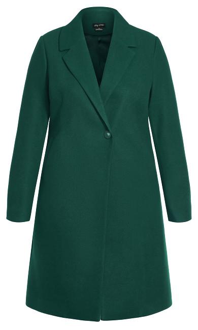 Effortless Chic Coat - jade